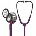 Littmann Classic III -stetoskooppi, potilasvalvontaan, peilipintainen rintakappale, luumunvärinen letkusto, vaaleanpunainen suppilo ja savunväriset kuuntelukaaret, 27 tuumaa, 5960