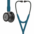 Littmann Cardiology IV Stethoscope High Polish Smoke-Finish Chestpiece, Caribbean Blue Tube, Mirror Stem and Smoke Headset, 27 inch, 6234