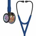 Littmann Cardiology IV Fonendoscopio campana de acabado de alto brillo en arcoíris, tubo azul oscuro y vástago, 6242